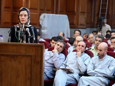 Prozess gegen Oppositionelle im Iran: Französin vor Gericht.