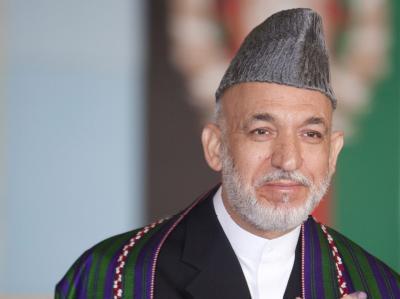 Der Präsident Afghanistans: Hamid Karsai.