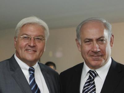 Außenminister Frank-Walter Steinmeier und der israelische Ministerpräsident Benjamin Netanjahu.