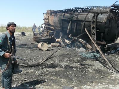 Nach der Tragödie im afghanischen Kundus hat der Fahrer eines der bombardierten Lastwagen die Bundeswehr verklagt. (Archivbild).