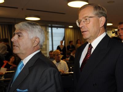 Kritiker des Opel-Deals: Der Insolvenzexperte Dirk Pfeil (l.) und der als Sanierer bekanntgewordene Manager Manfred Wennemer.