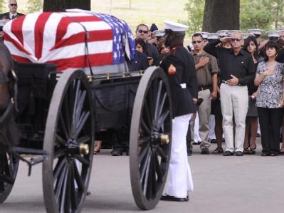 Beerdigung eines in Afghanistan gefallenen US-Soldaten auf dem US-Friedhof von Arlington.