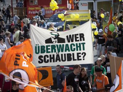 Demonstration gegen �berwachung