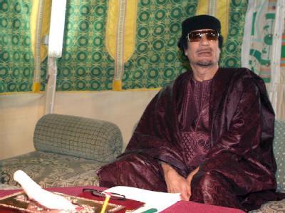 Gaddafi im Zelt