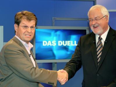 Vier Tage vor der Landtagswahl stellen sich die Spitzenkandidaten dem Streitgespräch.