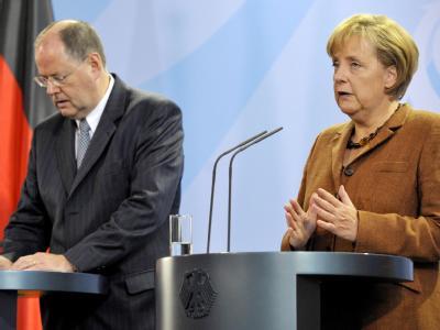 Merkel und Steinbrück zu G 20 Gipfel