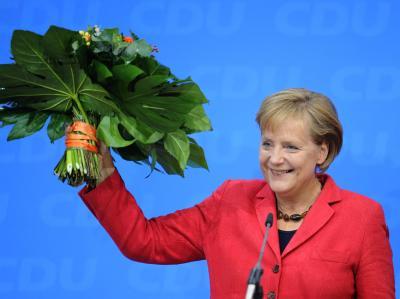 Wahlsiegerin Merkel