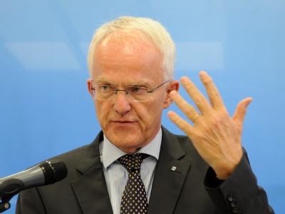 Der NRW Ministerpräsident Jürgen Rüttgers ist Gastgeber der Koalitionsverhandlungen.