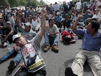 Zelaya-Anhänger demonstrieren in Tegucigalpa, der Hauptstadt von Honduras.
