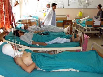 Opfer des Bombenanschlags in Kandahar.
