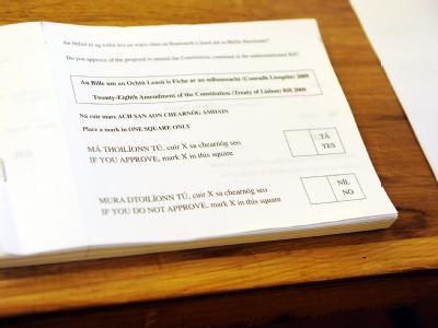 Viele Iren hatten die Nase voll von der Dauerdiskussion um den EU-Vertrag und stimmten mit «Tá» bzw. «Yes».