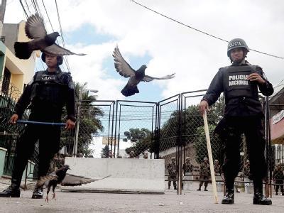 Wache vor brasilianischer Botschaft