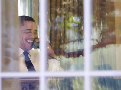 Obama telefoniert