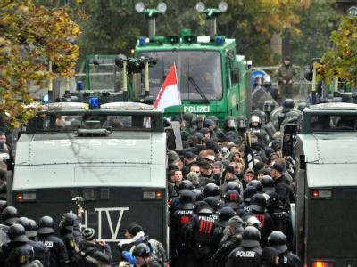 Rechtsextremen-Demo in Leipzig