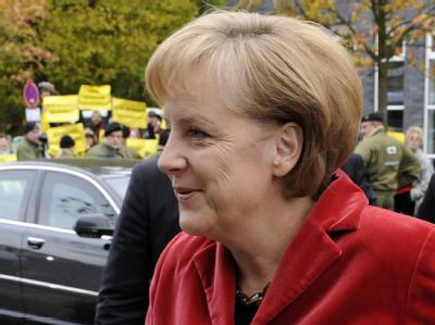 Nächste Runde: Bundeskanzlerin Angela Merkel aus dem Weg zu den Koalitionsverhandlungen.