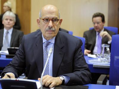 IAEA-Chef Mohamed El Baradei bei den Atomgesprächen zwischen dem Iran und den Vereinten Nationen in Wien.