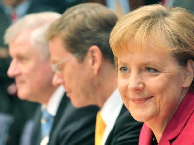 Merkel, Westerwelle und Seehofer