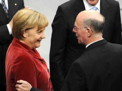 Kanzlerin und Bundestagspräsident