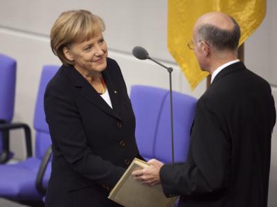 Merkel vereidigt