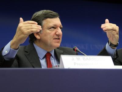 EU-Kommissionspräsident Jose Manuel Barroso beim Treffen in Brüssel.