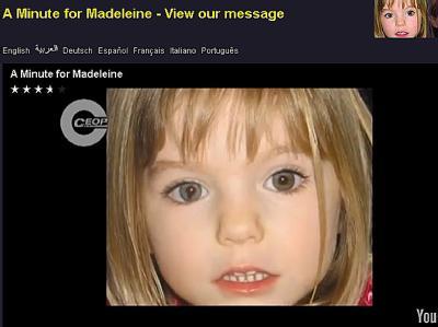 Der Screenshot zeigt Madeleine McCann in einem neuen einminütigen Video der Kinderschutzorganisation Child Exploitation and Online Protection (Ceop).