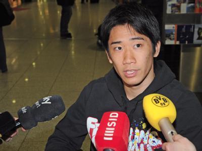 Borussia Dortmunds Profi Shinji Kagawa befindet sich nach einem Mittelfußbruch (Archivbild von Ende Januar) zur Reha in seiner Heimat.