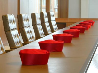 Verhandlungssaal des Bundesverfassungsgerichts in Karlsruhe (Archivfoto).