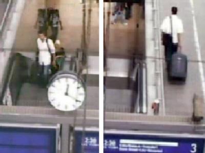 �berwachungskamera der Bahn