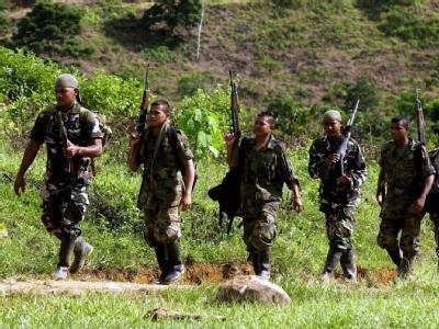 Kolumbianische Soldaten