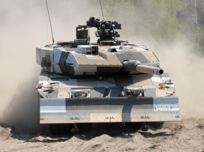 Krauss-Maffei baut Kampfpanzer vom Typ Leopard 2. Foto: KMW