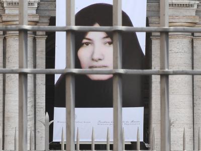 Protest gegen die Steinigung von Sakineh Mohammad-Aschtiani. Teheran wirft den beiden verhafteten Deutschen Spionage vor.