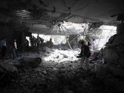 Zerstörtes Gebäude in Tripolis