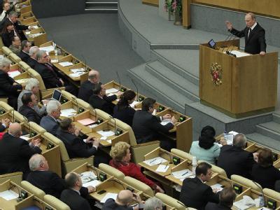 Die neue Staatsduma tritt in Moskau zu ihrer konstituierenden Sitzung zusammen. Foto: Sergei Ilnitsky/Archiv