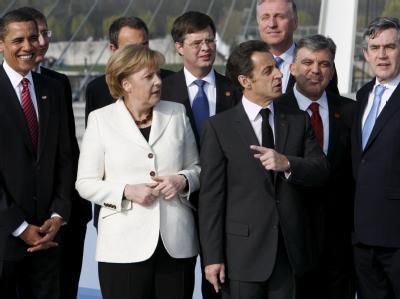 Obama, Merkel, Sarkozy und Brown
