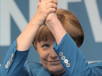 Wir erneut für die Union als Kanzlerkandidaten bei der kommenden Bundestagswahl antreten: Bundeskanzlerin Angela Merkel. Foto: Caroline Seidel/Archiv