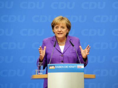 Bundeskanzlerin Angela Merkel hält am Wahlkampfkurs der CDU fest.