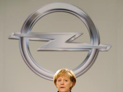 Merkel besucht Opel