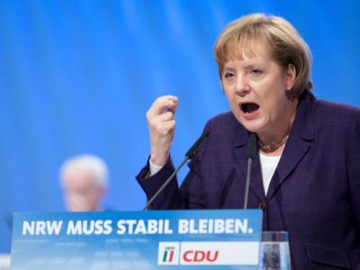 Bundeskanzlerin Angela Merkel auf dem nordrhein-westfälischen Landesparteitag der CDU.