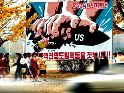 Anti-US-Propaganda in Nordkorea. Foto: KCNA/Archiv