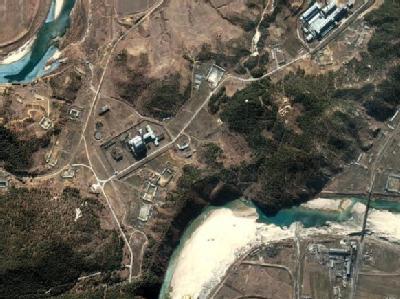 Satellitenbild einer Atomanlage in Nordkorea. (Archivbild)