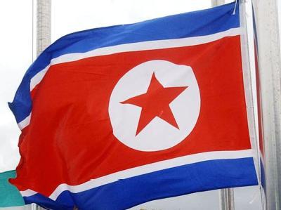 Nordkoreanische Fahne