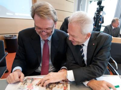 Volker Kefer und Rüdiger Grube