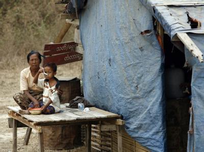 Dorfbewohner in Birma