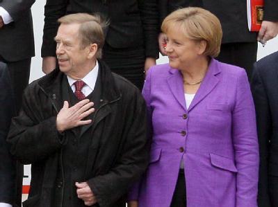 Vaclav Havel und Angela Merkel