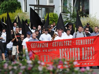 Aufmarsch von Rechtsextremisten in Bad Nenndorf