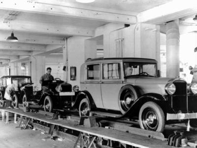 Produktion bei Opel 1924