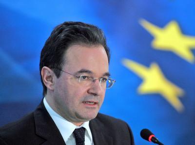 Griechenlands Finanzminister Giorgos Papakonstantinou plant keinen Austritt aus der Euro-Zone (Archivfoto).