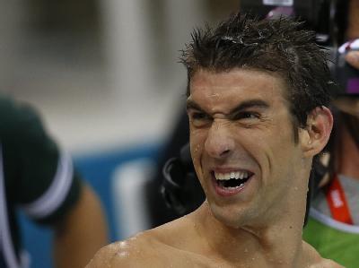 Keiner hat so wie Olympia-Medaillen wie er: US-Schwimmstar Michael Phelps. Foto: Patrick B. Kraemer