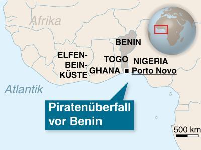Piratenüberfall vor Benin