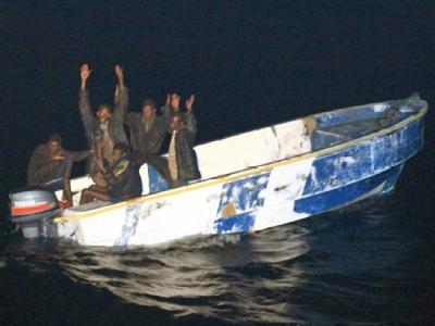 Piraten im Indischen Ozean.